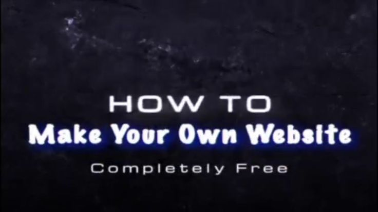Here is a video with step by step instructions on how to How to make your own website for free