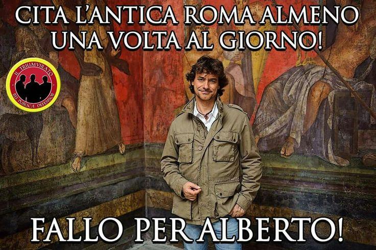 Dalla pagina Facebook de Il Triumvirato; meme Alberto Angela