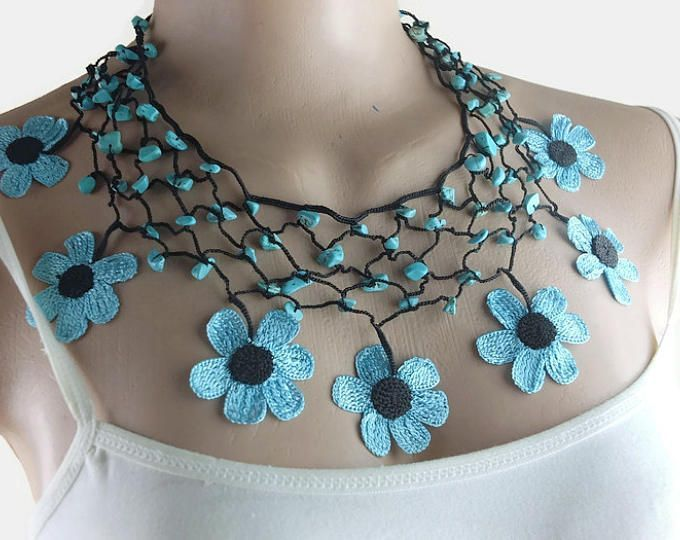 Crochet Necklace Statement Nec |