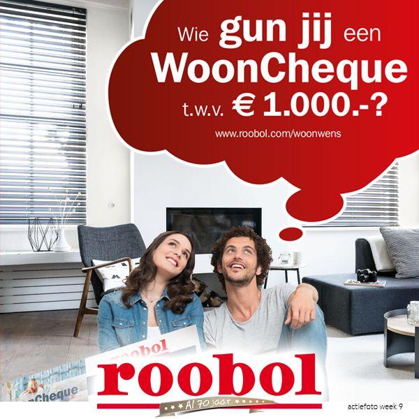 Roobol bestaat 70 jaar en trakteert! Wie gun jij een nieuwe vloer, raambekleding of een vloerkleed?   (re)pin de foto en vermeld wie je de wooncheque gunt en motiveer je keuze! Vermeld ook #roobolwoonwens!  Kijk op www.roobol.com/woonwens voor de actievoorwaarden.  #roobolwoonwens #roobol #actie #wooncheque #jubileum