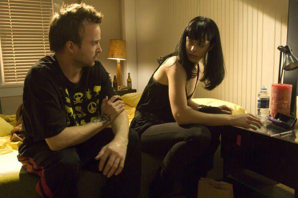 Breaking Bad characters Jesse Pinkman (Aaron Paul) and Jane Margolis (Krysten Ritter)