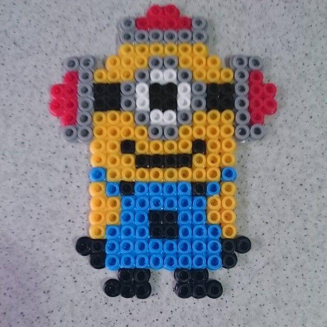 Minion hama beads by joseluis.ruizgalbis