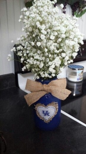 University of Kentucky Wildcats Centerpieces I made for my brother's wedding!!!