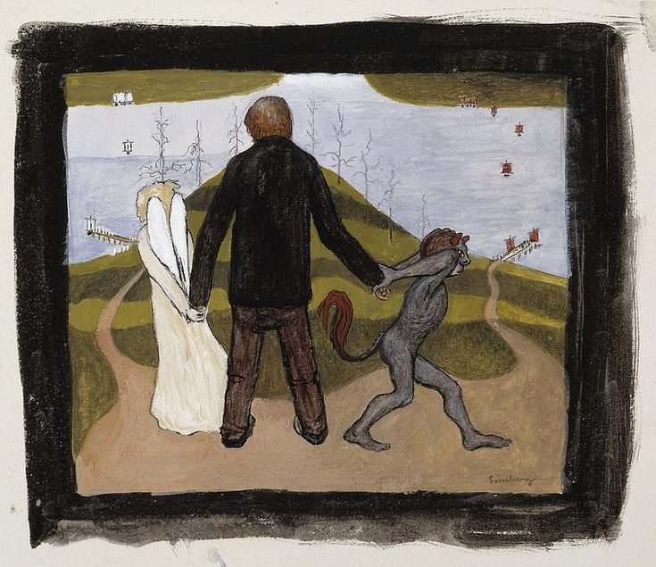 Hugo Simberg - At the Crossroads, 1896