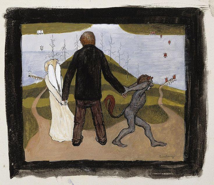 Hugo Simberg - At the Crossroads, 1896