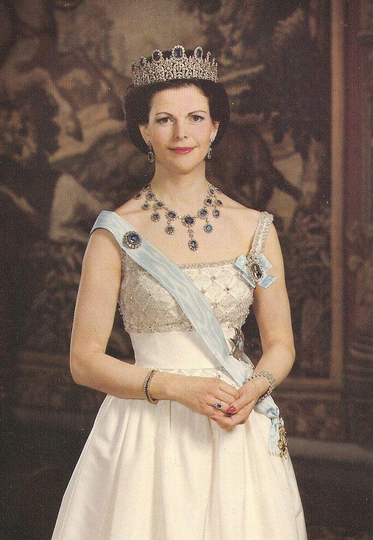 KÖNIGIN SILVIA-BERNADOTTE-Adel-Royal-ORIGINAL POSTCARD-Monarchie-Königshaus | eBay