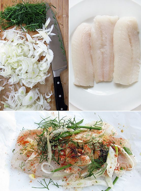 haddock in a little nest of fennel and onion and seasoned it up with ...