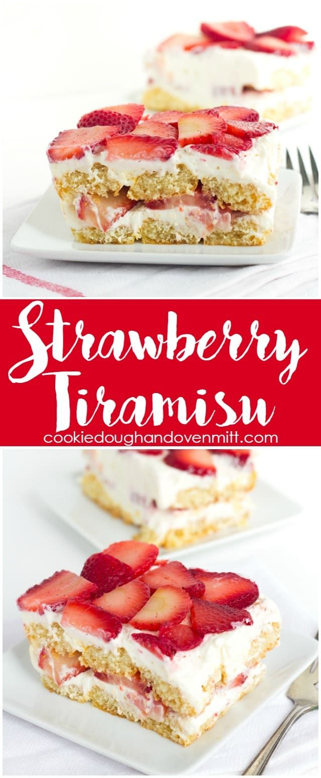 Strawberry Tiramisu Recipe for a moist dessert