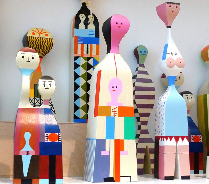 Wooden Dolls originally designed by Alexander Girard in 1963, produced today by Vitra