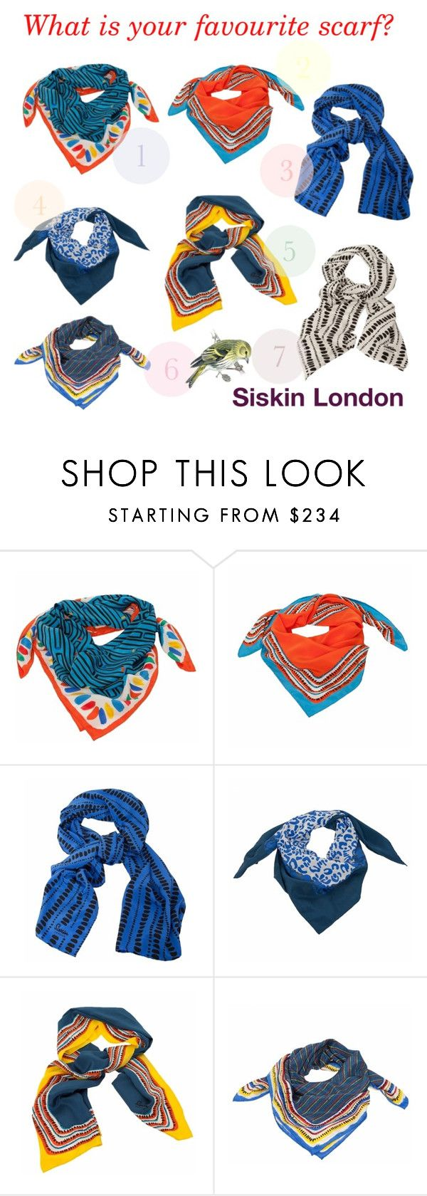 """""""What is your favourite scarf? Siskin London!"""" by lusy-lusy ❤ liked on Polyvore"""