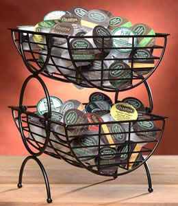 K-Cup Storage Baskets---anybody out there have a CREATIVE storage solution for these things?