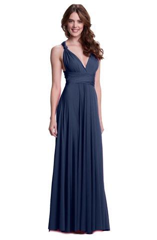 Sakura maxi convertible dress navy blue wedding colors for Navy maxi dresses for weddings
