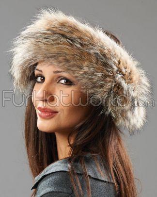 coyote.fur.headband.