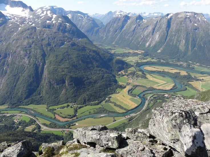landskap natur fjell innsjø elv dal fjellkjede fjord reservoar møne ovenfra geologi Alpene platå falt cirque Norge morene Landform flyfotografering fjellovergang geografiske funksjonen fjelllandformer