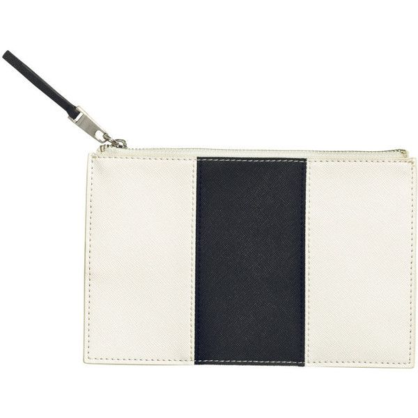 H&M Small clutch bag found on Polyvore featuring bags, handbags, clutches, h&m purses, purse, h&m, zipper purse and white purse