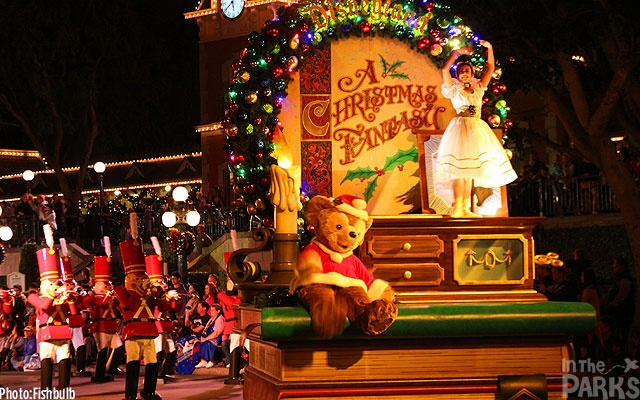 Watching the Disneyland Christmas Parade on television