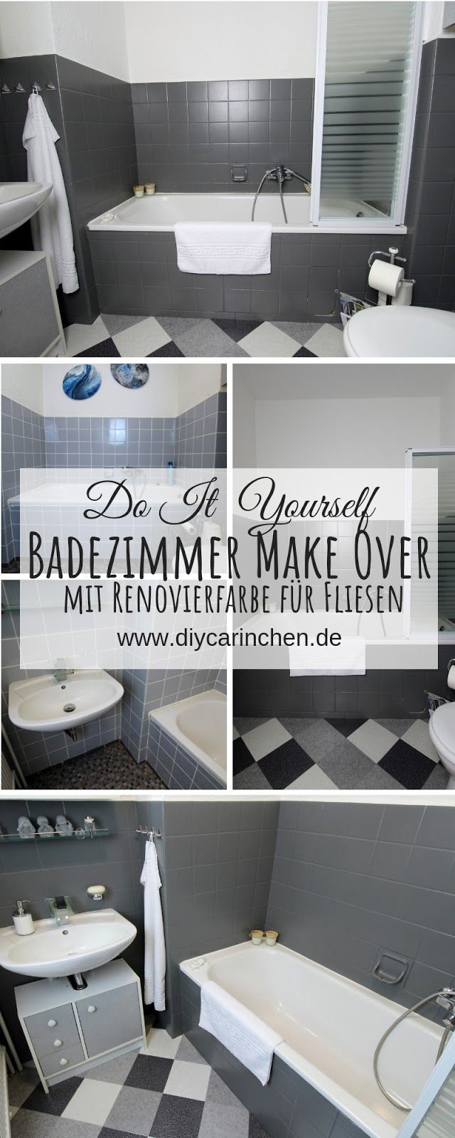 Diy Badezimmer Streichen Und Renovieren Mit Fliesenfarbe Badezimmer Streichen Badezimmer Renovieren Fliesenfarbe