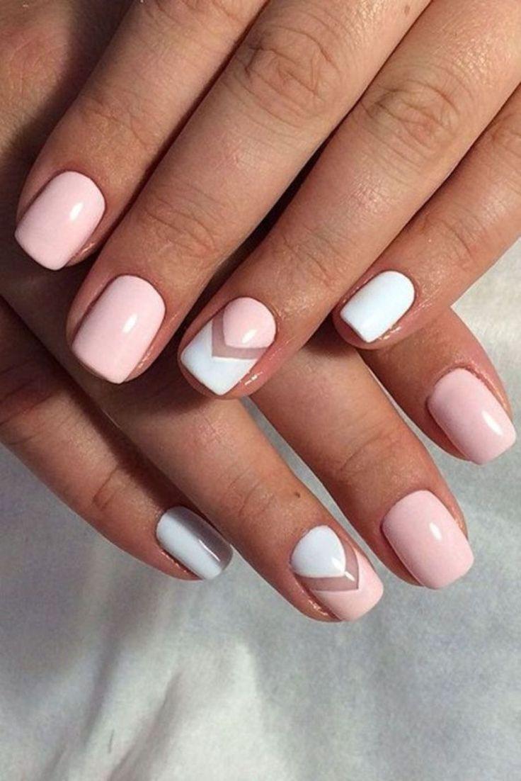 White color nail art - 80 Cute Summer Nails Arts Ideas