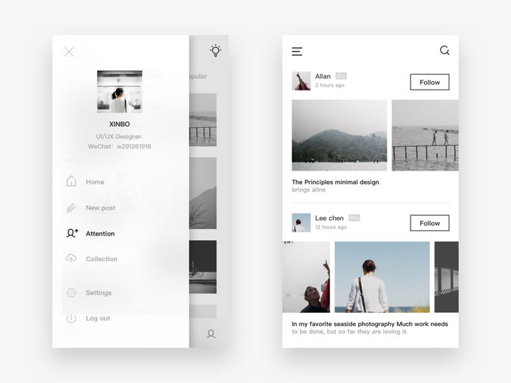 Photo social app design 4 by XINBO #Design Popular #Dribbble #shots