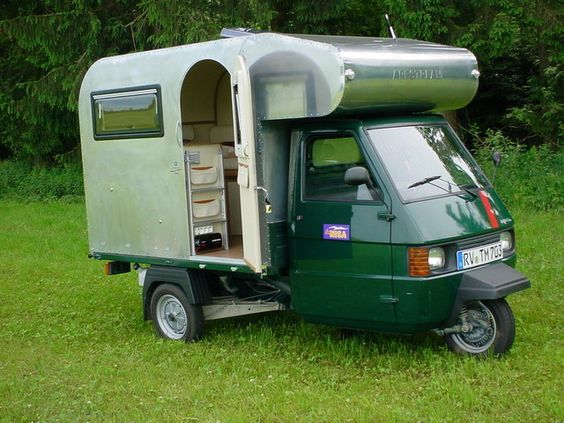 """vintage-trailer: """" Piaggio camper """""""