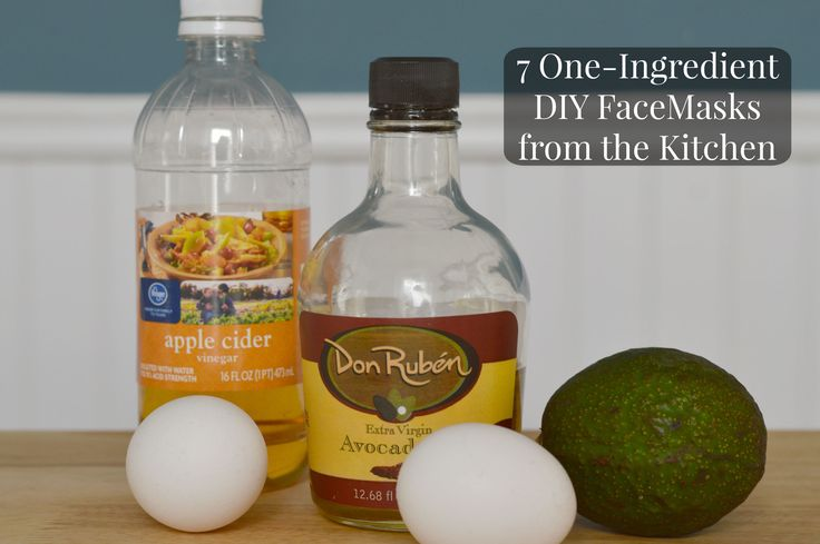 7 One Ingredient DIY Face Masks. Use these simple homemade face masks with only 1 ingredient from the kitchen for perfect skin and a beautiful complexion.