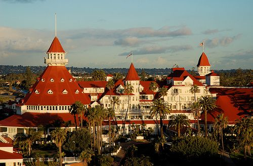 Hotel Del Coronado -- This is my Favorite Place to go and walk along the beach in San Diego. San Diego was my first taste of California at the young age of 16, living on my own without a care in the world. This hotel was always a welcome site when I needed my time alone with the ocean to cleanse my mind and soul.