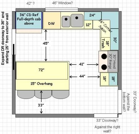 12x12 Kitchen Layouts What Would You Do Kitchens Forum Gardenweb House Over Floor Plans Flooring