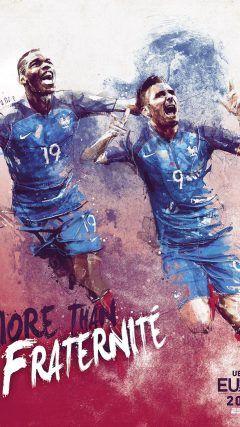France ESPN UEFA Euro 2016 Poster