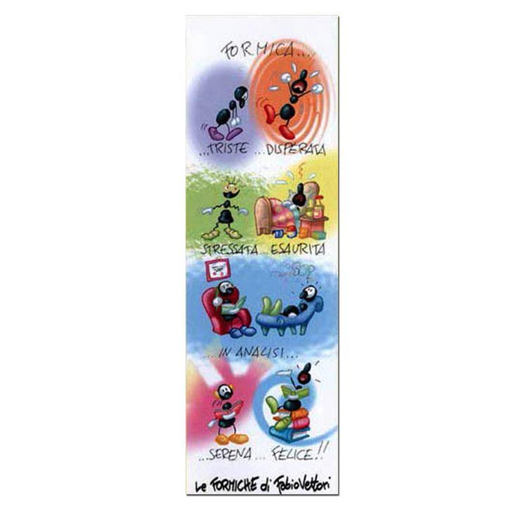 Segnalibro in carta FV01-08 | Le Formiche di Fabio Vettori #umori #segnalibro #book #libro #formiche #gift #leggere #collori #colors