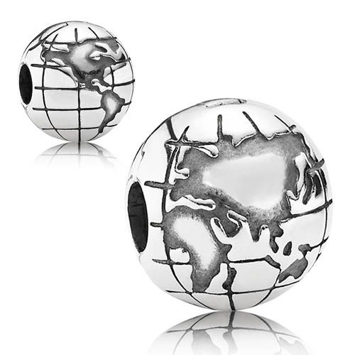 9bad9af44 ... Worlds A Stage Silver Charm 71923CZ Buy Cheap PANDORA Silver Globe Clip  791182 from The Jewel Hut. The UKs highest rated PANDORA retailer ...