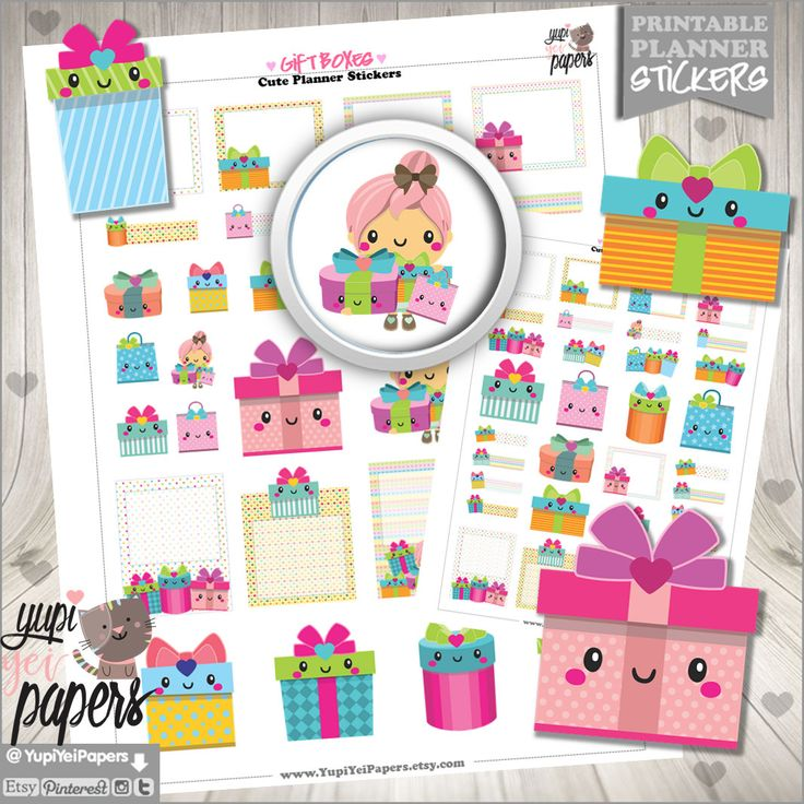 50%OFF - Gift Stickers, Planner Stickers, Present Stickers, Gift Box Stickers, Planner Accessories, Box, Birthday, Party