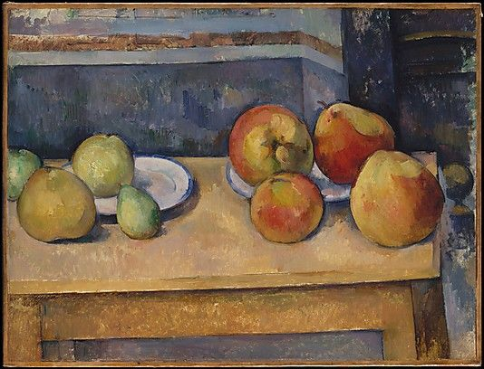 Paul Cézanne, Nature morte avec pommes et poires, 1891-1892, The Metropolitan Museum of Art. http://www.metmuseum.org/collections/search-the-collections/110000316#