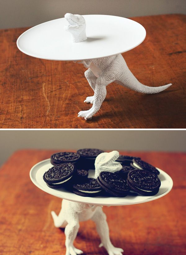 DIY Tutorial: Clever Dinosaur Serving Dish! // Hostess with the Mostess®