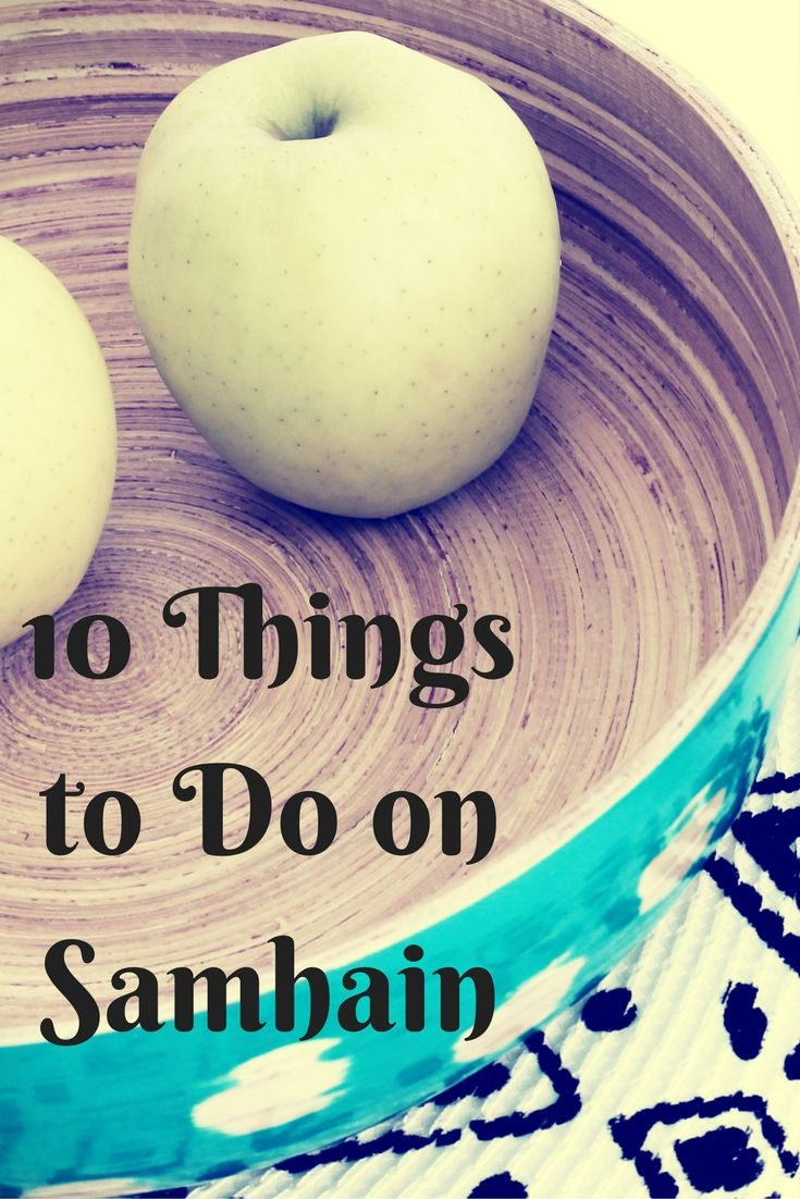 Ten Things to do on Samhain A collection of divinations, rituals and customs you might like to try out this year. Apple Divination Take an apple, and peel it. Try and peel it in one go, so it is ju…