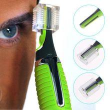 1 pcs Remoção Rosto Cuidados Pessoais Aço Inoxidável Nose Hair Trimmer Clipper Shaver w/DIODO EMISSOR de Luz para Homens e mulheres alishoppbrasil