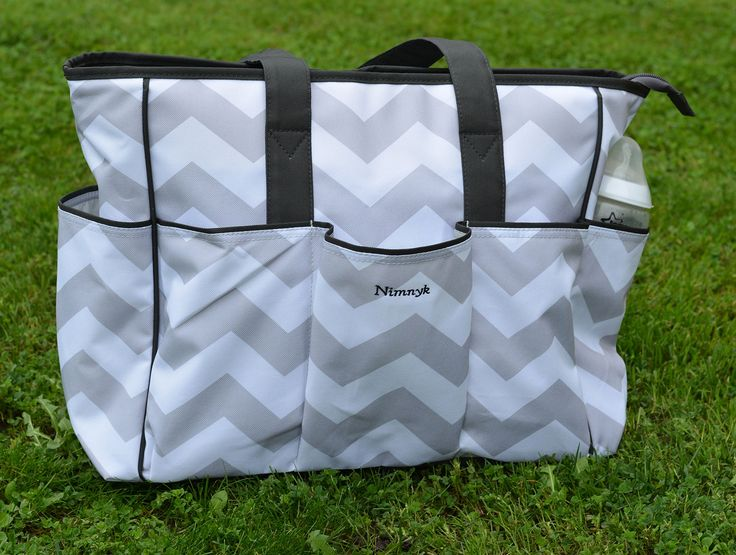 Amazon.com : NimNik Baby Diaper Bags Chevron w/ Changing Mat Best Quality Designer Diapers Bag for Girls Boys Twins, Shower Gifts for Mom Dad : Baby
