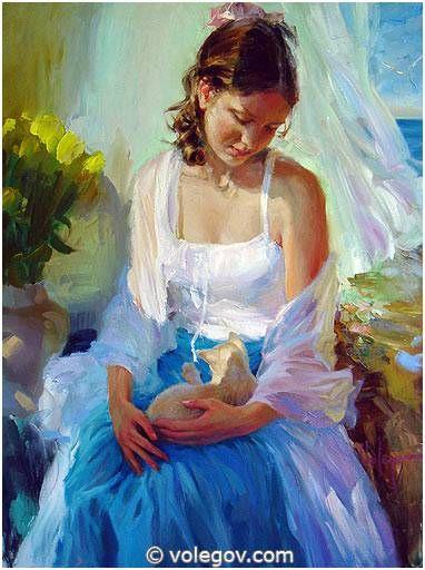 Галерея художника Владимира Волегова, портреты очень красивых женщин.