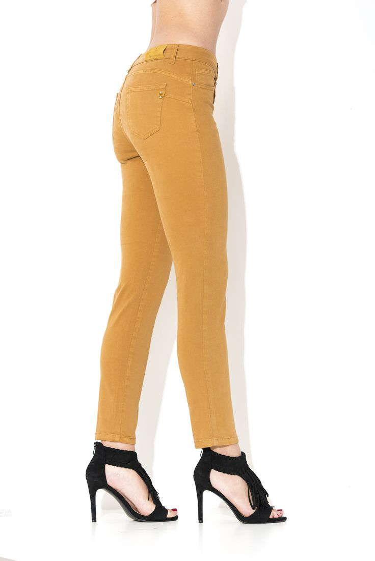 #pantalone #jeans #donna #outfit #moda #inverno #winter #2016 #2017 #pants #collection #skin #jeans #denim #yellow #giallo