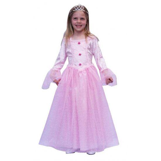 Roze prinses jurk voor meisjes. Lange prinsessen jurk in de kleur roze. De jurk heeft lange mouwen met wijd uitlopende mouwen. Het roze prinsessen jurkje wordt geleverd zonder kroontje. Carnavalskleding 2015 #carnaval