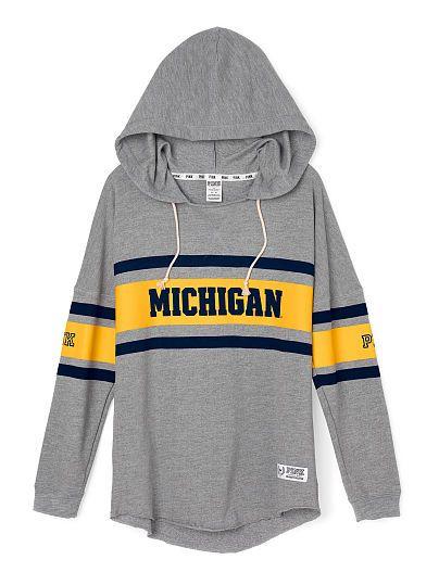 University of Michigan Varsity Pullover Hoodie PINK LU-336-271