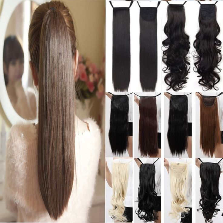 Clip In Ponytail Pony Tail Extensions Hair Extension Wrap around USA SELLER UCB #Unbranded #Ponytail