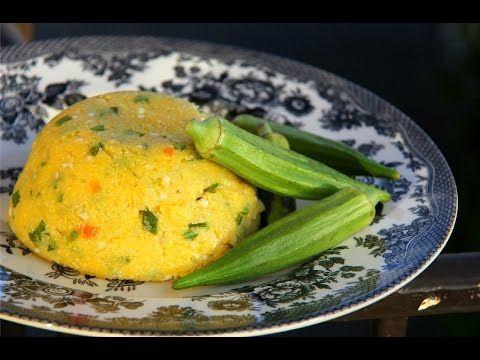 Corn Cou Cou (Vegetarian + Gluten Free) #TastyTuesdays   CaribbeanPot.com