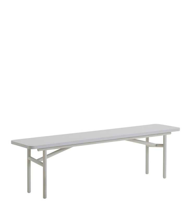 Diagonal bench, grey