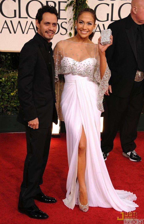 Jlo vestito bianco oro