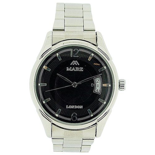 Mab London Automatic Gents All Stainless Steel Black Dial Calendar/Date Watch