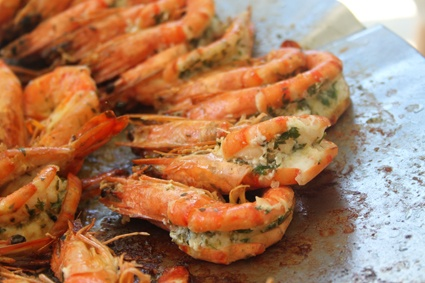 Prawns on the braai together with http://www.winewizard.co.za/wine/white-blend/white/boekenhoutskloof-winery-porcupine-ridge-viogniergrenache-blanc/