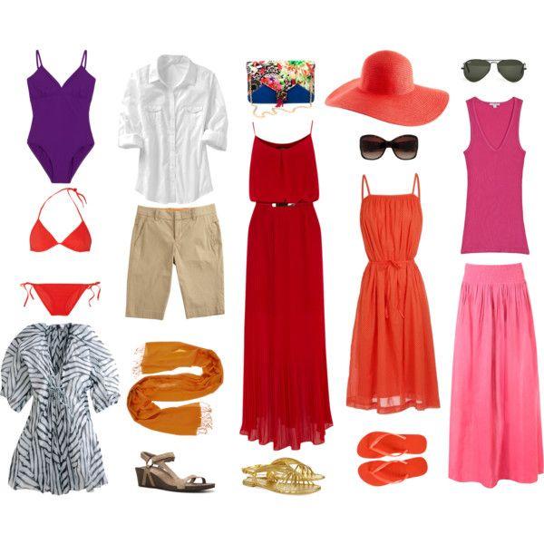 """Beach Vacation Wardrobe"" by wardrobeoxygen on Polyvore"