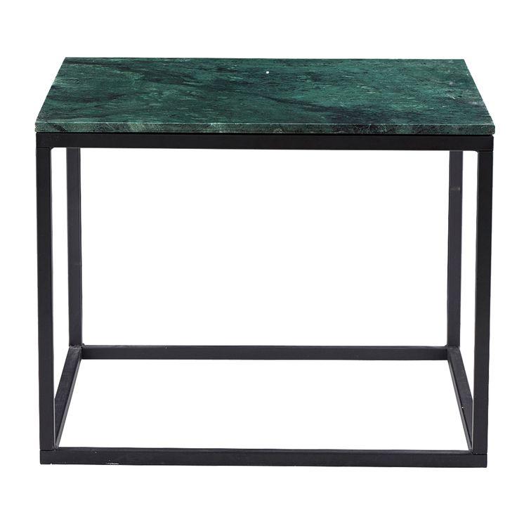 60x60 h 45 Base Marble sofabord, grøn marmor – House Doctor – Køb møbler online på ROOM21.dk