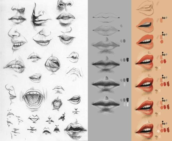 Character Design Animation Tutorial : Character design references mouth illustration
