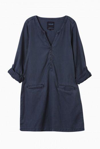 Sepia Smock | Cotton and linen smock dress